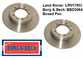 LR017953 Borg & Beck Brake Discs (Pair) BBD5064